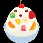 フルーツのアイスのイラスト