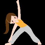 エクササイズや体操をする女性のイラスト