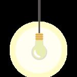 電球の天井照明のイラスト