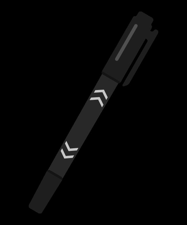 黒色のペン・サインペンのイラスト