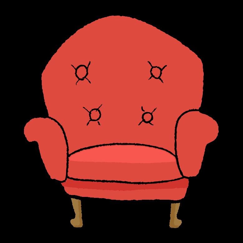 手書き風のおしゃれなソファーのイラスト