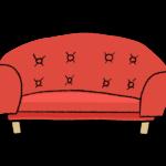 手書き風のおしゃれな二人掛けソファーのイラスト
