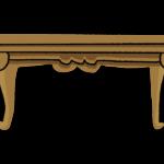手書き風のおしゃれな木のテーブルのイラスト