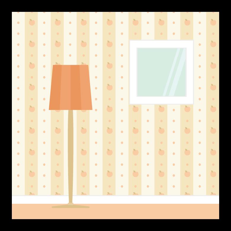 りんごの模様の部屋の壁紙のイラスト