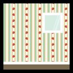 いちごの模様の部屋の壁紙のイラスト