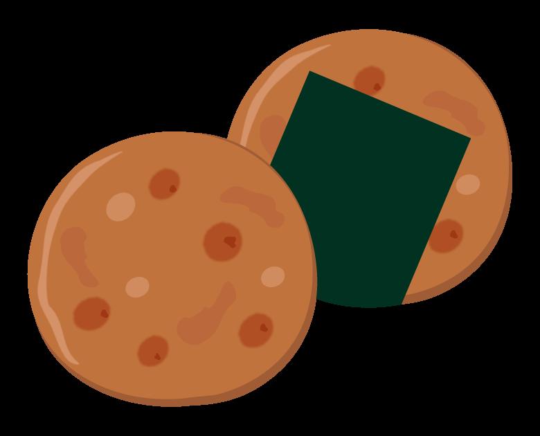 お煎餅のイラスト