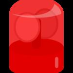 赤いサイレン・ランプのイラスト