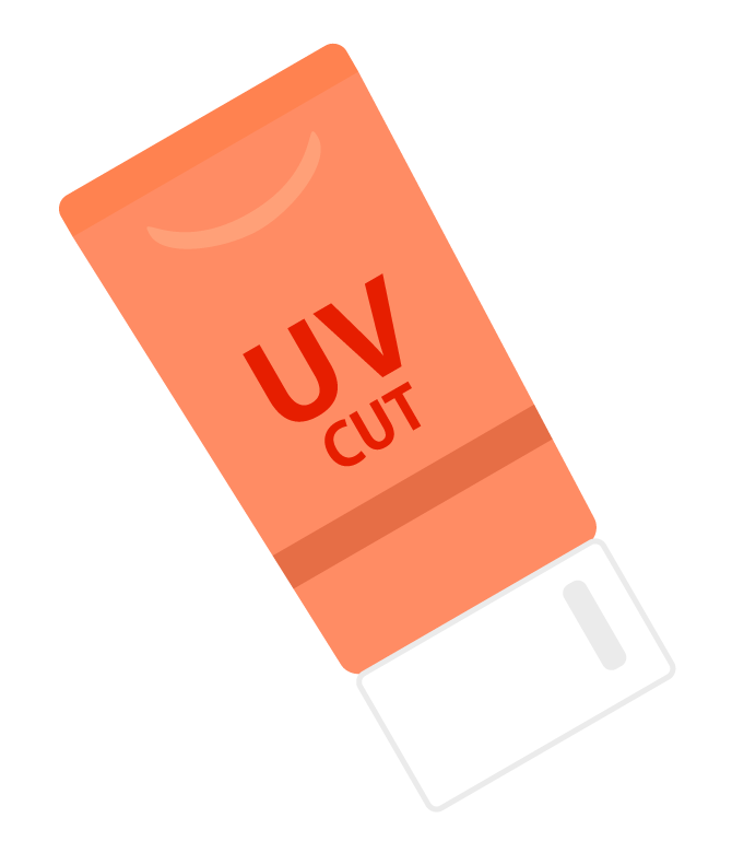 UVクリームのイラスト