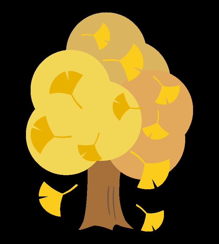 イチョウの木のイラスト