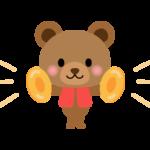 シンバルを叩くかわいいクマさんのイラスト