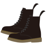 黒色のスニーカーブーツのイラスト