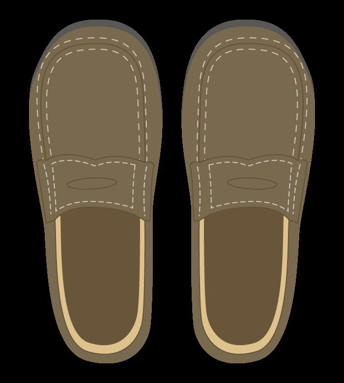茶色いおしゃれな靴のイラスト