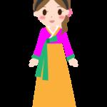チマチョゴリを着た女性のイラスト