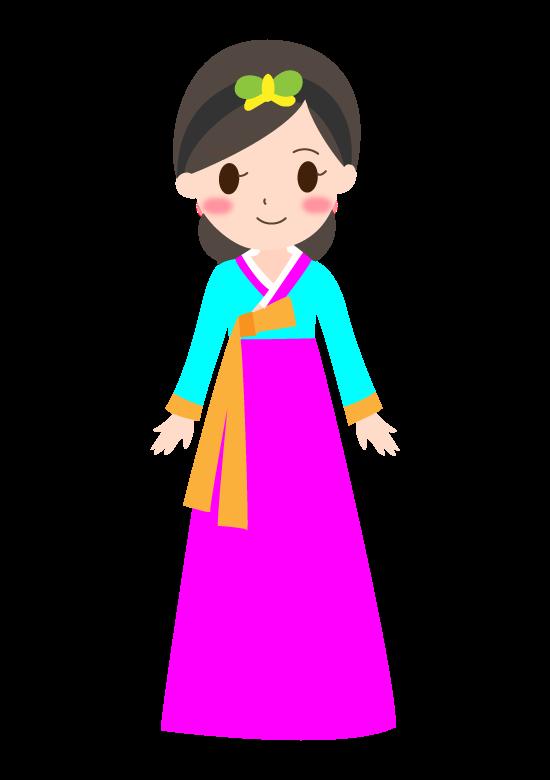 チマチョゴリを着た女性のイラスト02
