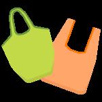 シンプルなエコバッグのイラスト
