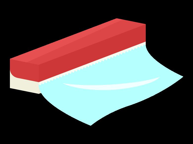 食品用ラップのイラスト