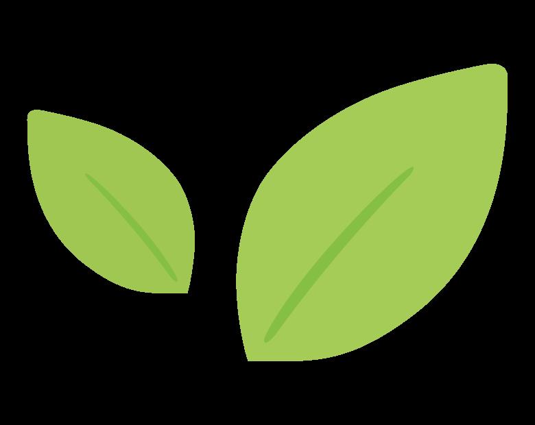 緑の葉っぱのイラスト
