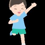 走っている元気な男の子のイラスト