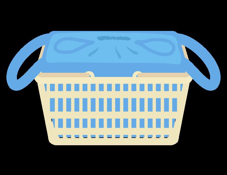 買い物カゴとエコバッグのイラスト