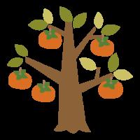 柿の木のイラスト