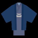 和服/着物(男性用)のイラスト