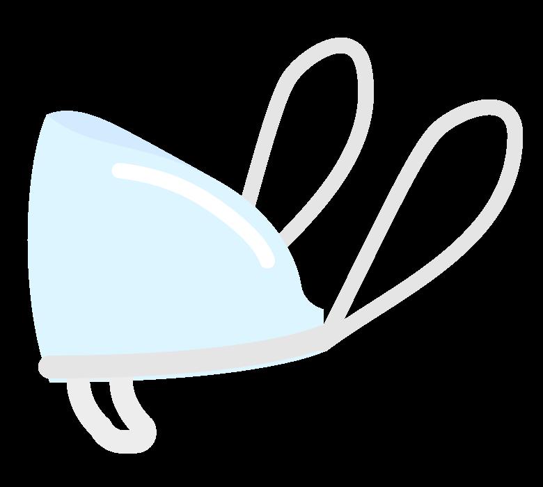 透明マスク(横アングル)のイラスト