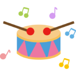 小太鼓のイラスト