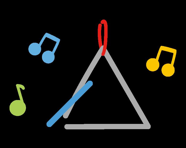 トライアングル(楽器)のイラスト