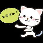 「おすすめ」とかわいい猫のイラスト
