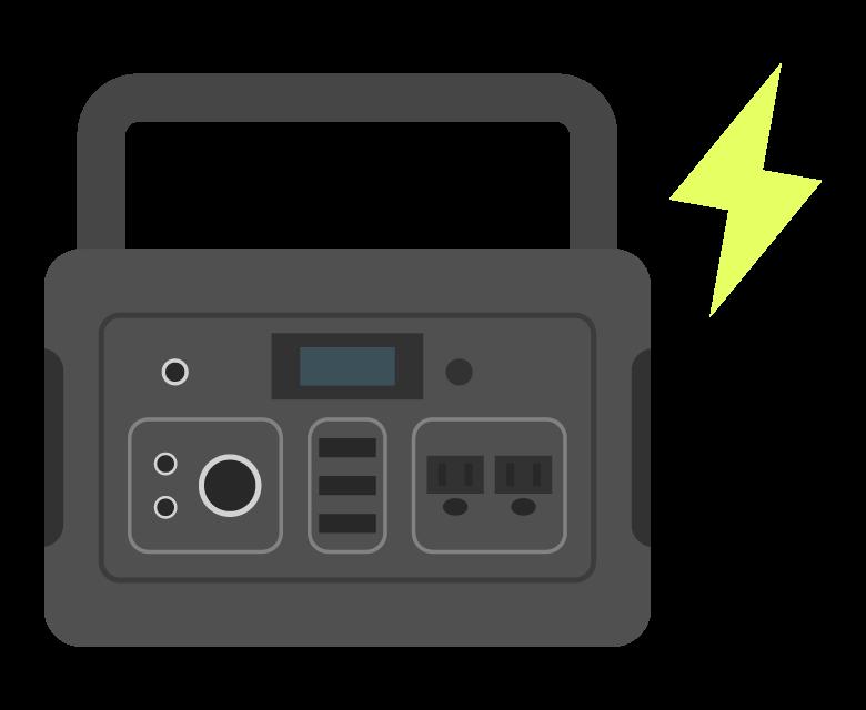 ポータブル電源/バッテリーのイラスト