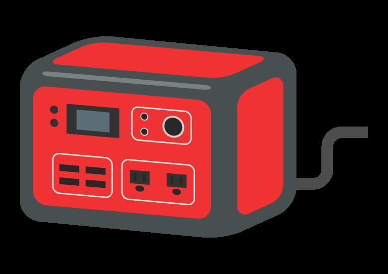ポータブル電源/バッテリーのイラスト02