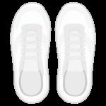 白いスニーカー(真上アングル)のイラスト