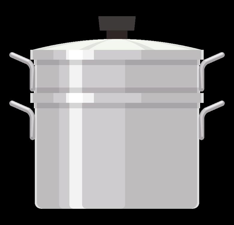 蒸し鍋/蒸し器のイラスト