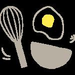 手書き風の調理道具やクッキングのイラスト
