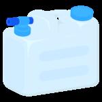 飲料水用のポリタンクのイラスト