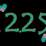 クリスマス「12.25」の文字のイラスト