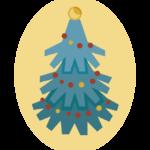 クリスマスツリーのイラスト03