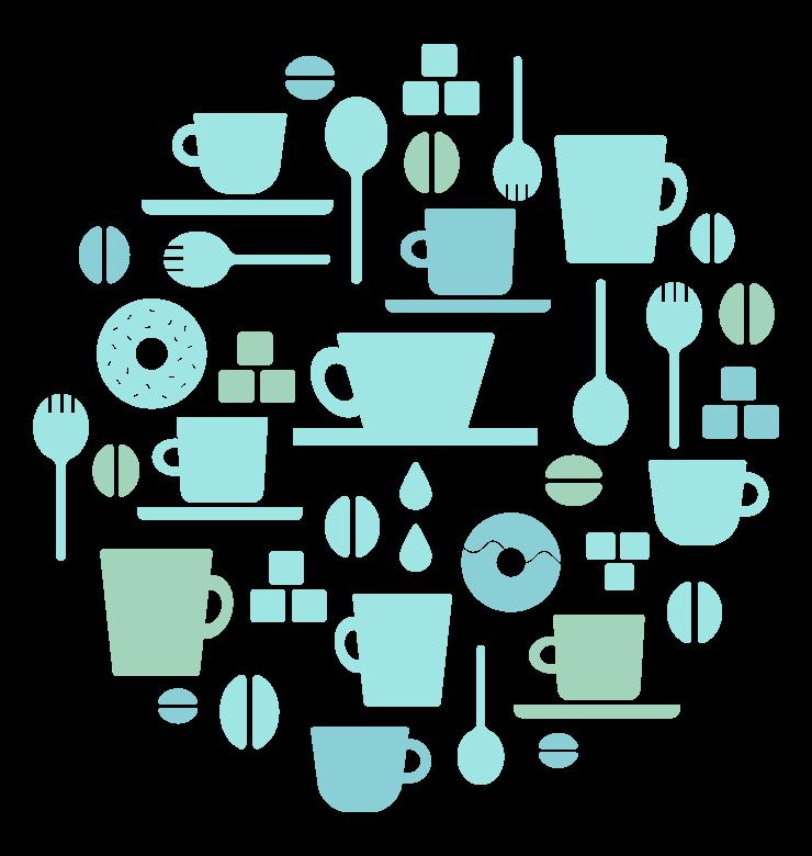 コーヒーイメージのイラスト