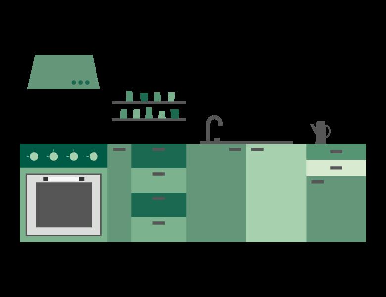 システムキッチンのイラスト03
