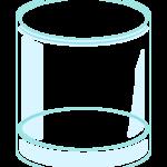 透明なグラスのイラスト