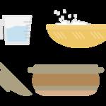 土鍋とご飯のイラスト