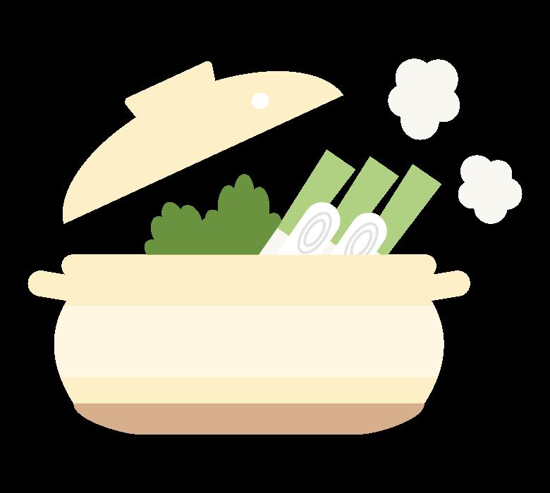 あったか鍋料理のイラスト