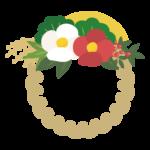 お正月飾り/しめ縄のイラスト