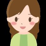 かわいらしい笑顔の女性のイラスト