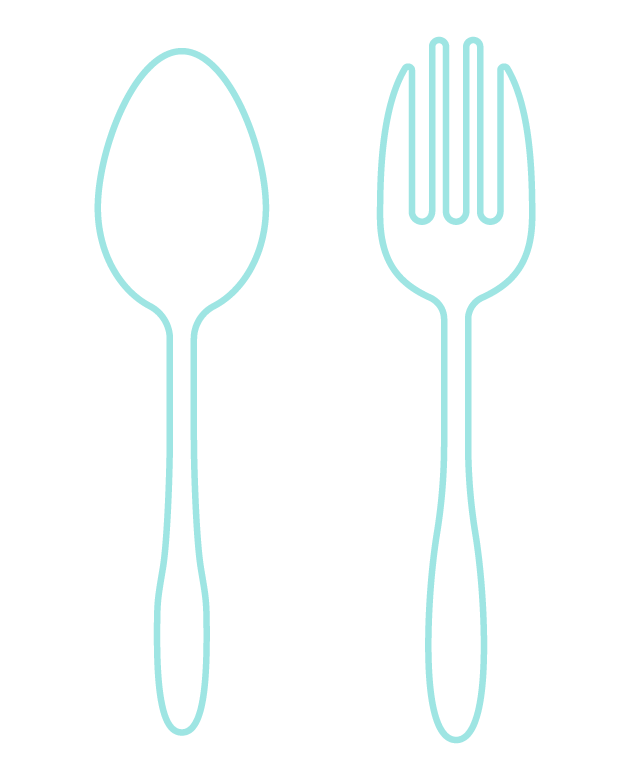 スプーンとフォークのイラスト
