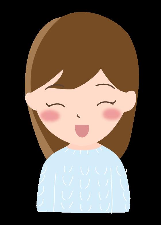 セーターを着た女性のイラスト