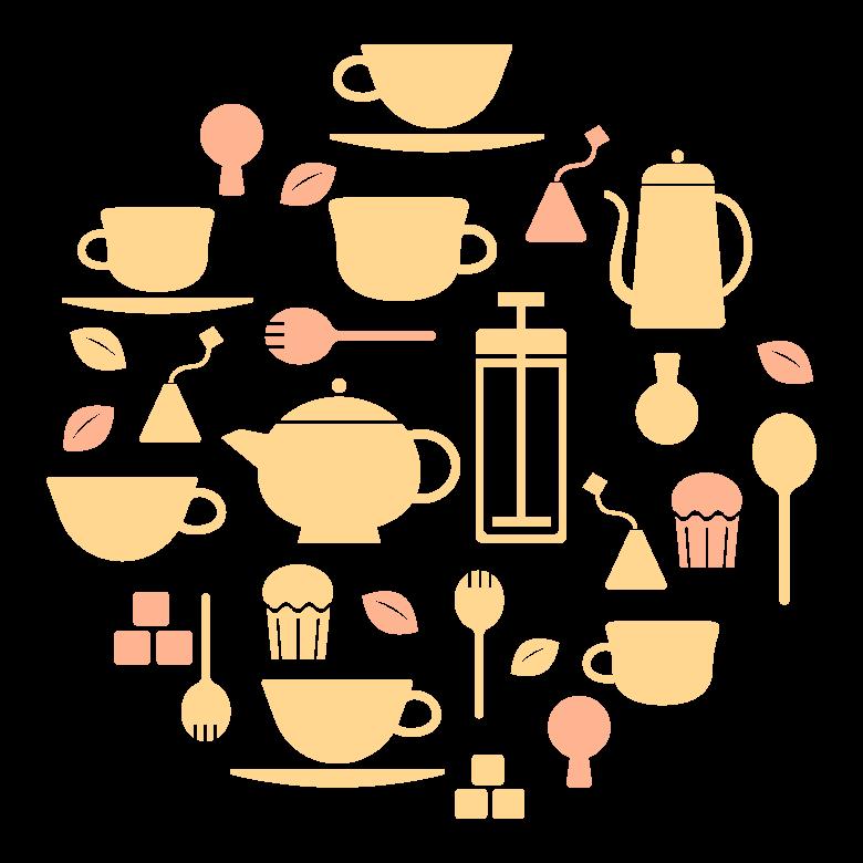 紅茶イメージのイラスト