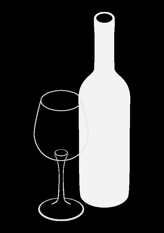 ワインとグラスのイラスト