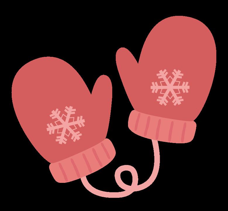 冬のかわいい手袋のイラスト