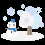 雪だるま/冬イメージのイラスト